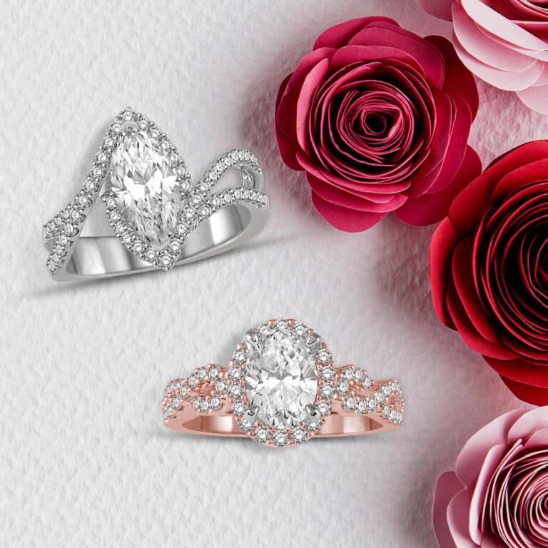 Dallas Marquise diamond ring
