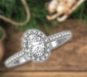 sparkling halo oval engagement rings